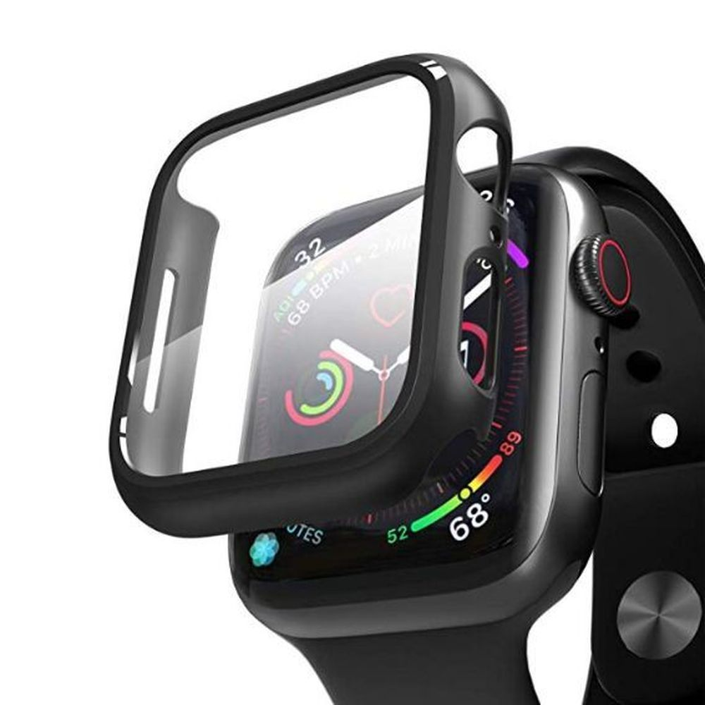 Hyphen Tempered Glass Protector Black for Apple Watch 44mm