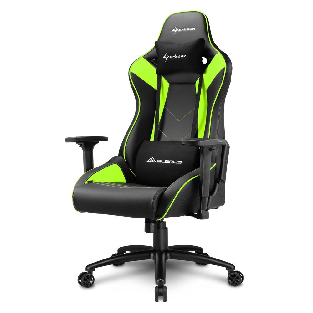 Sharkoon Elbrus 3 Black/Green Gaming Seat