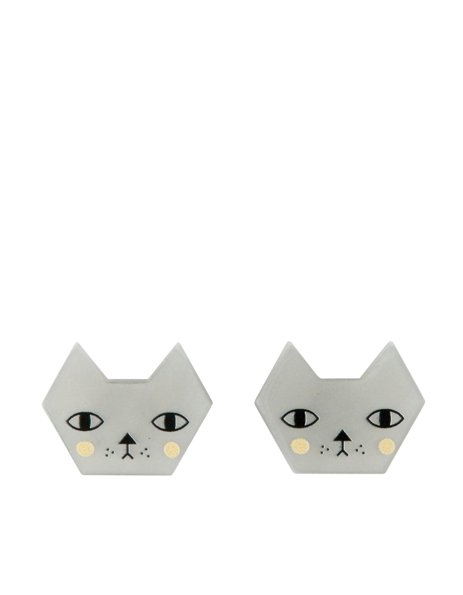 Little Moose Faces Cat Stud Earrings