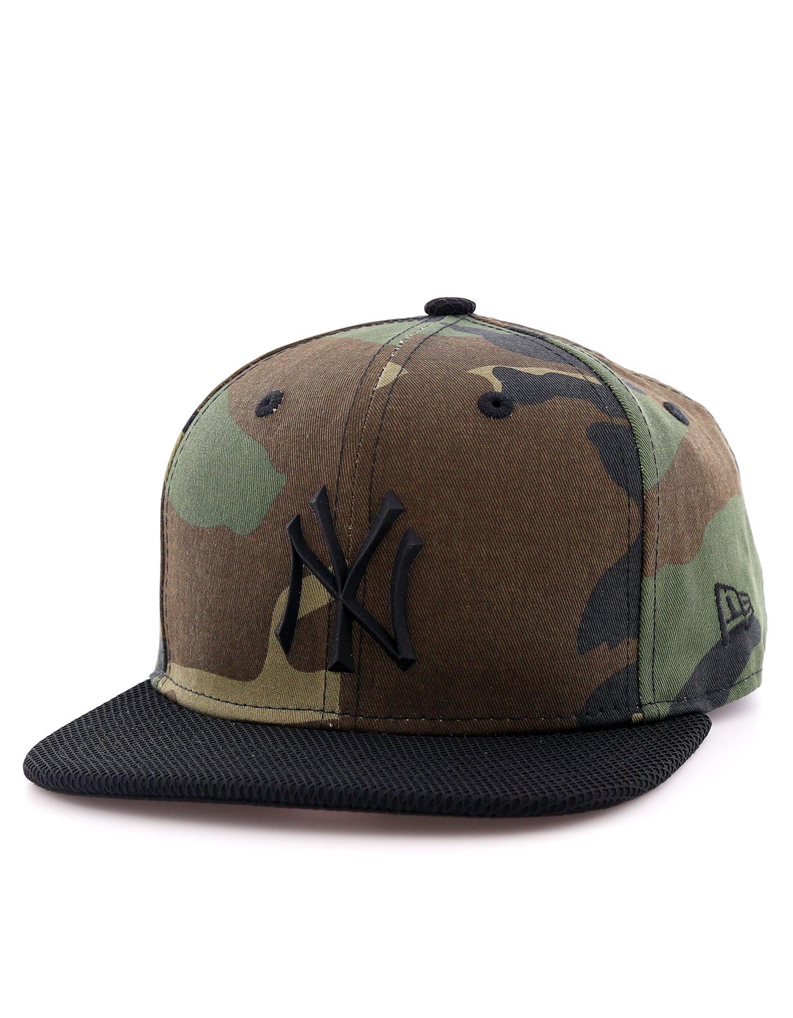 New Era Rubber Prime Ny Yankees Woodland Camo/Black Cap S/M