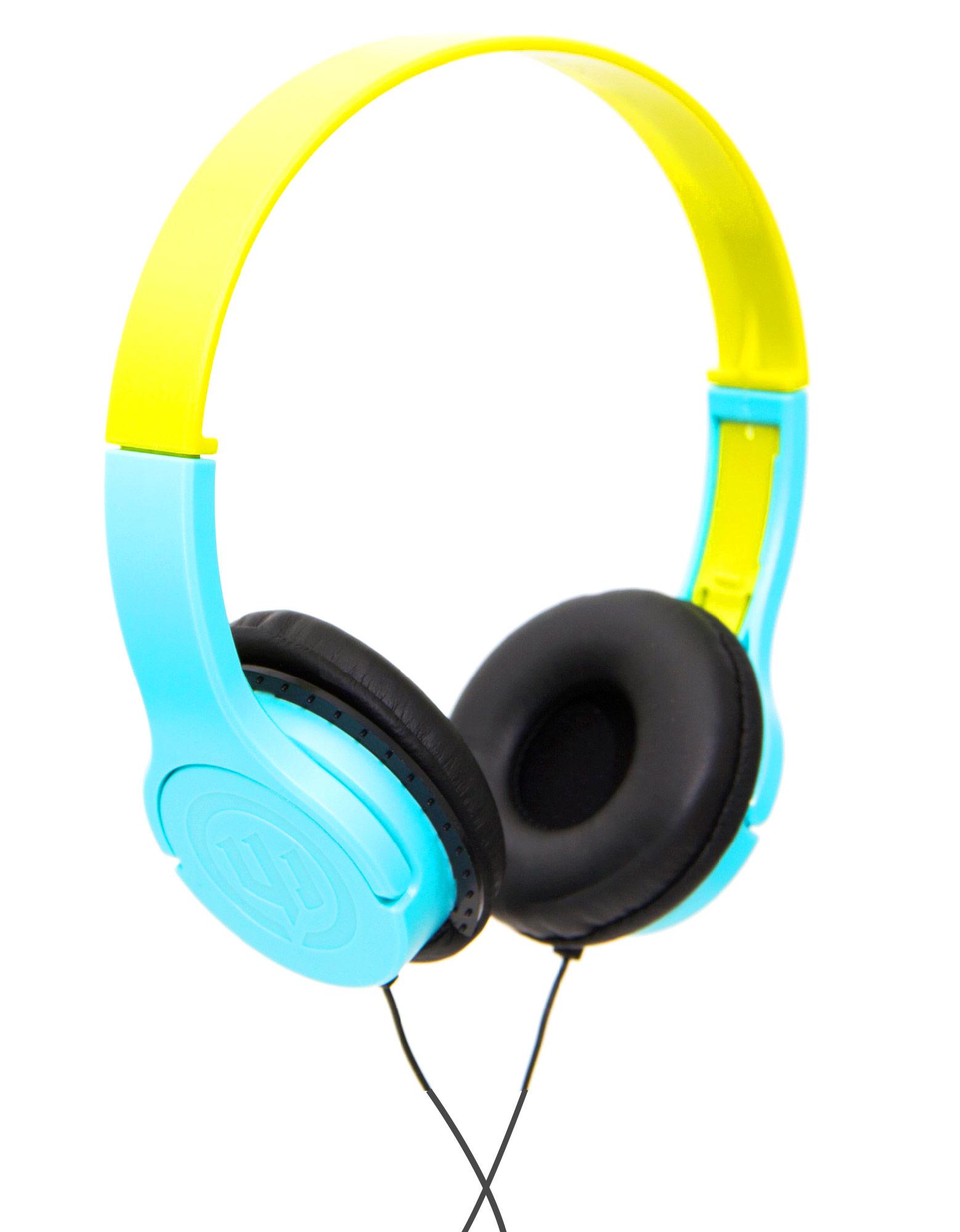 Wicked Audio Rad Rascal Sky Blue/Slime Kids Headphones