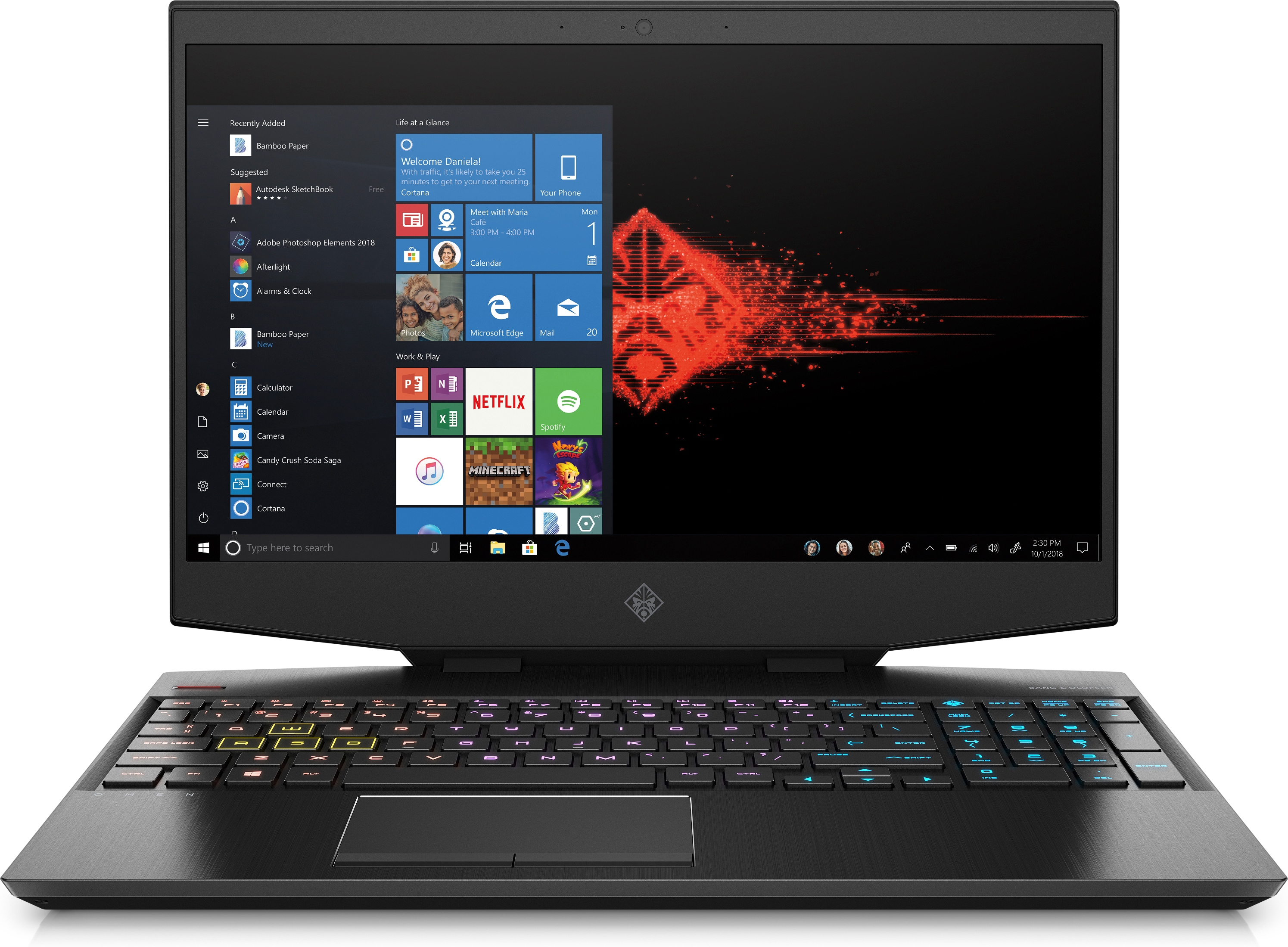 "Omen by HP 15-DH0011NE i7-9750H/32GB/1TB SSD/GeForce RTX 2070 8GB/15"" FHD/144Hz/Windows 10/Black"