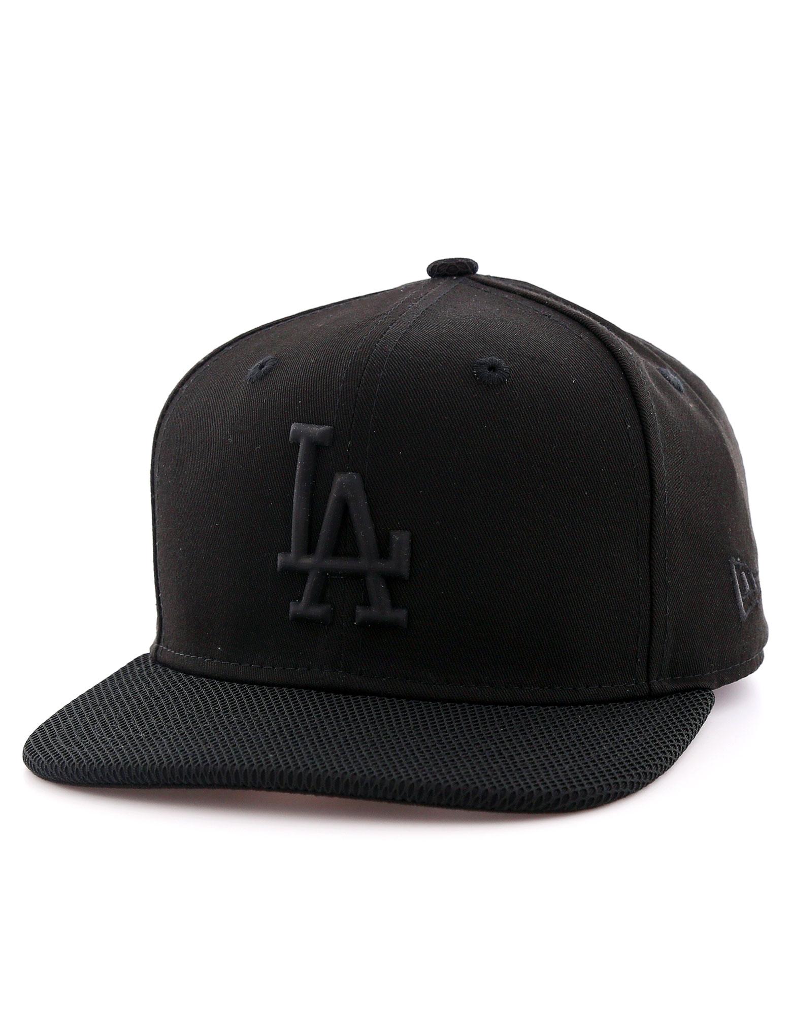 New Era Rubber Prime La Dodgers Black/Black Cap M/L