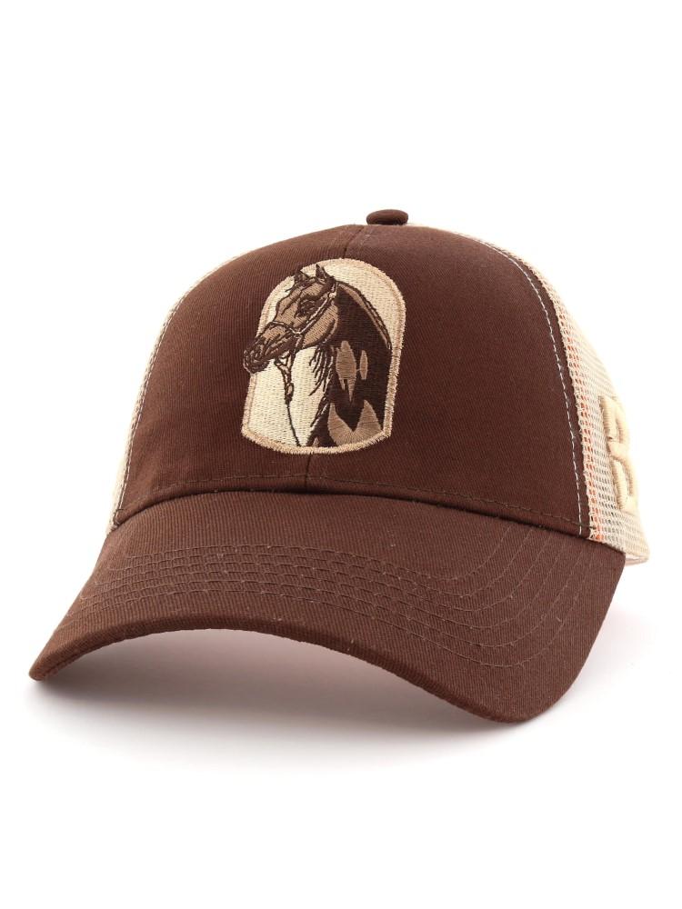 B360 B Proud with Horse Art Cap Brown & Beige