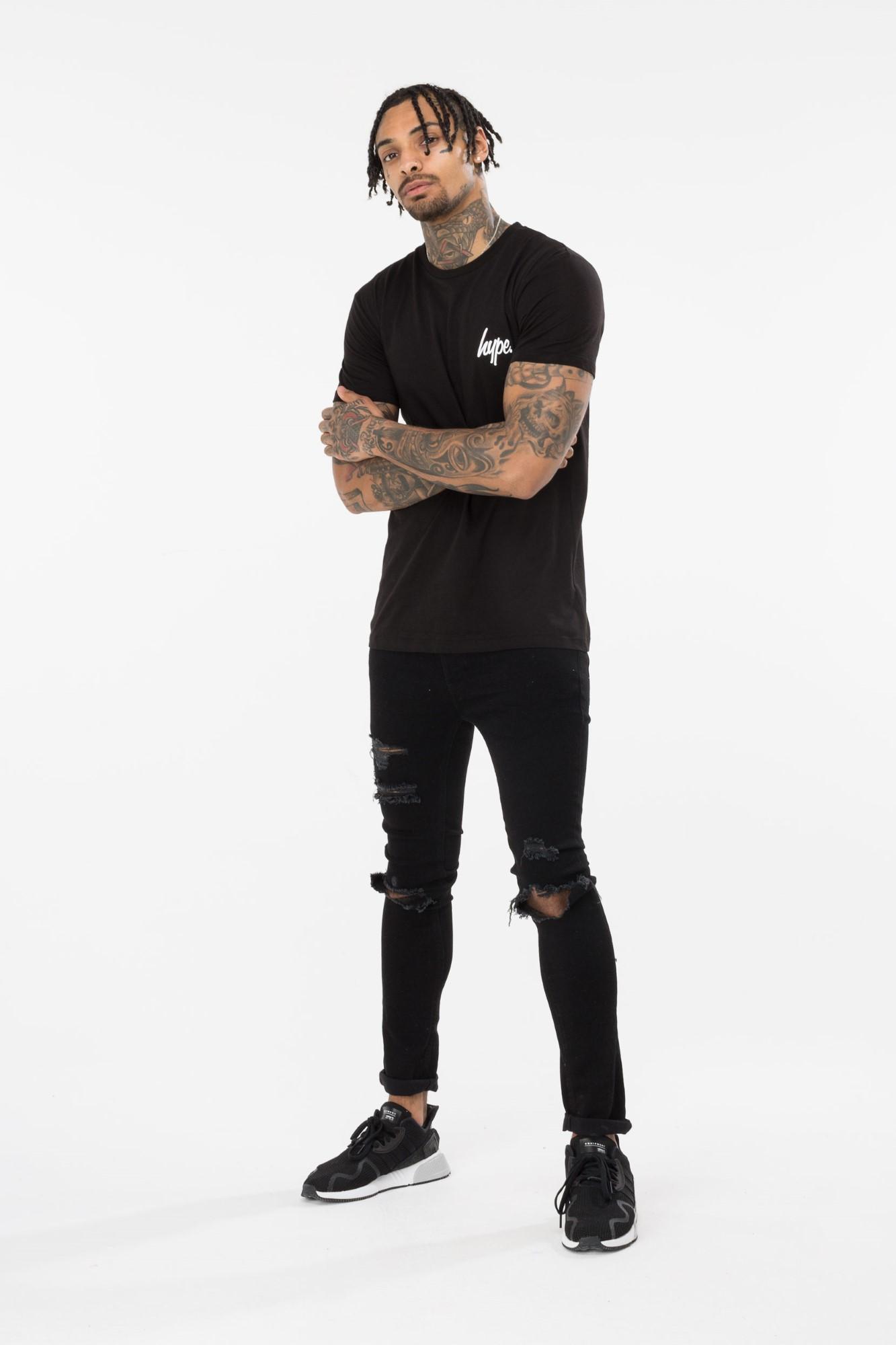 Hype Back Crest Men'S T-Shirt Black M