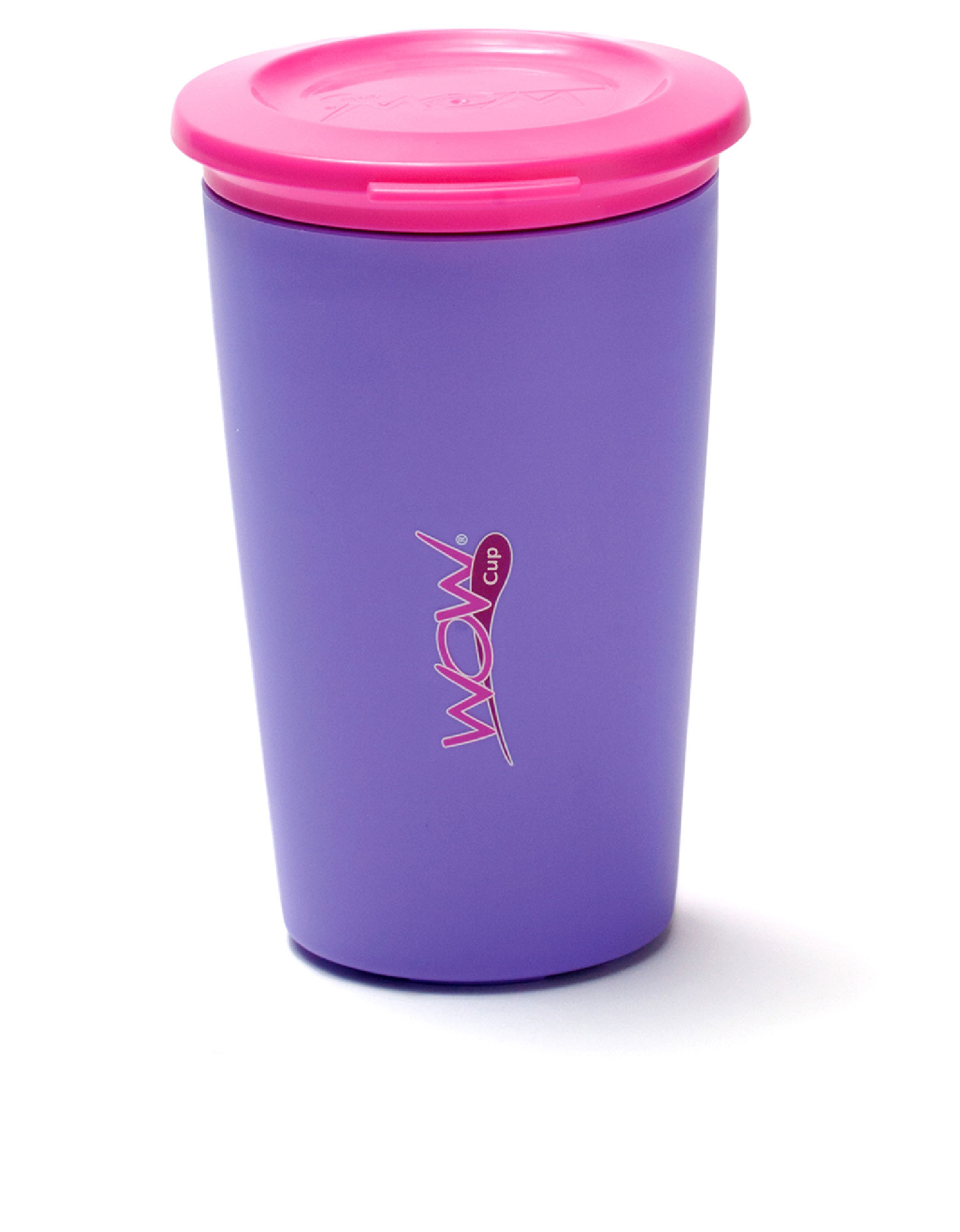 Wow Gear Wow Cup For Kids Purple Cup / Pink Lid 266 ml
