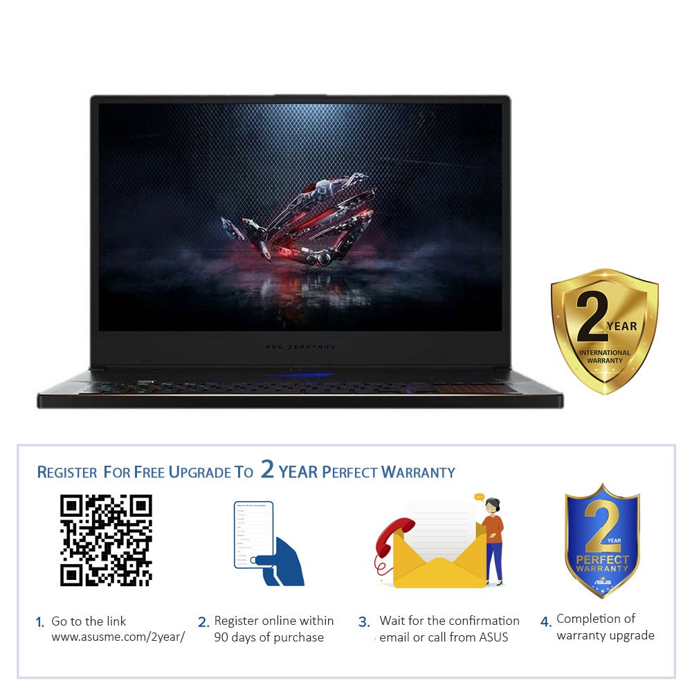 ASUS ROG Zephyrus Intel Core i7-8750H 2.2Ghz/24GB DDR4/1TB SSD/GeForce RTX 2080 Max-Q 8GB DDR6/17.3 Inch FHD/Windows 10 Home