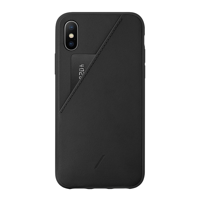 Native Union Clic Card Case Black for iPhone XS