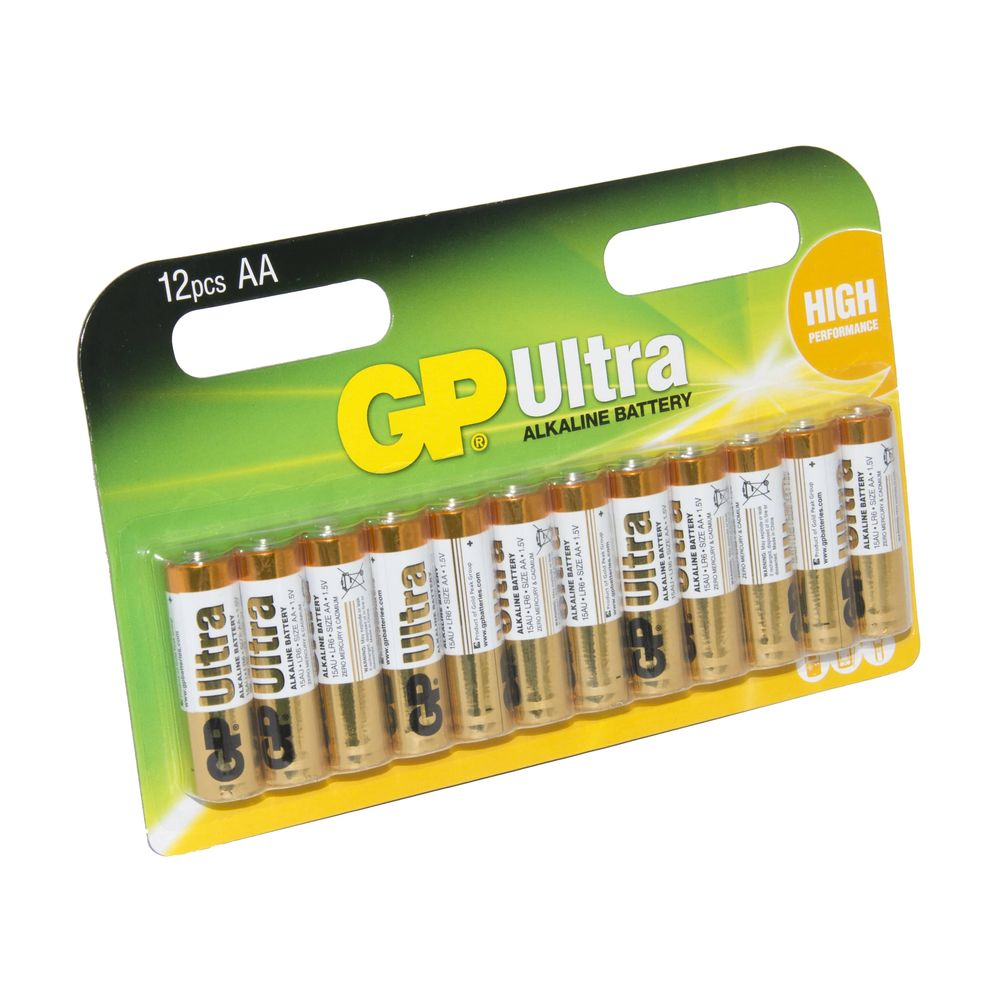 GP Batteries Ultra Alkaline AA [Pack Of 12]
