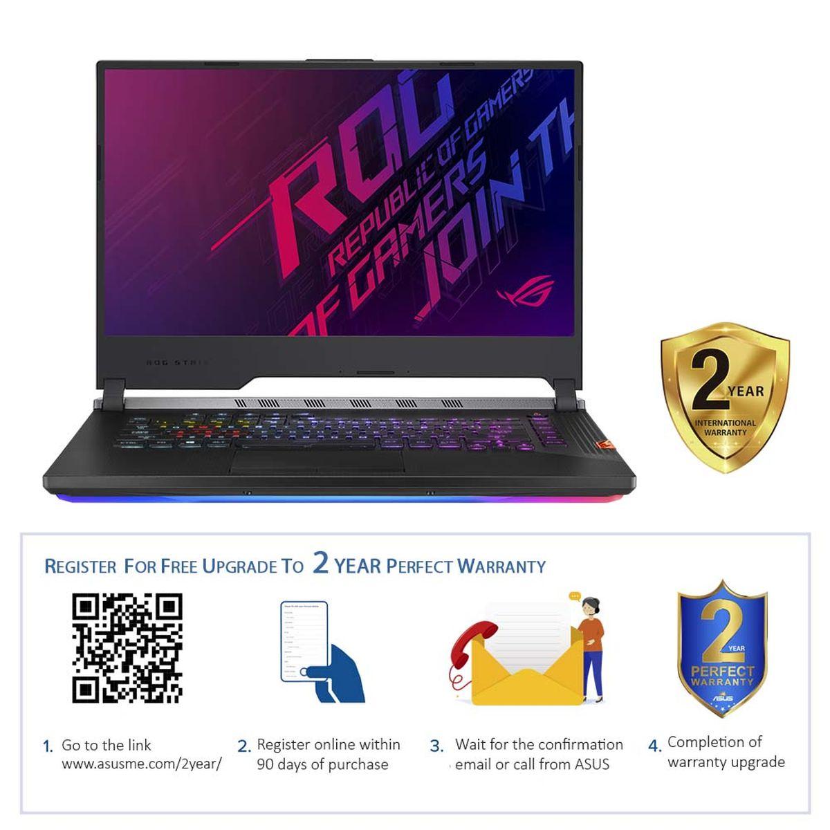 """ASUS ROG Strix Scar III G531GW-AZ231T i7-9750H/16GB/1TB HDD + 512GB SSD/NVIDIA GeForce RTX 2070 8GB/15"""" FHD/Windows 10/Black"""