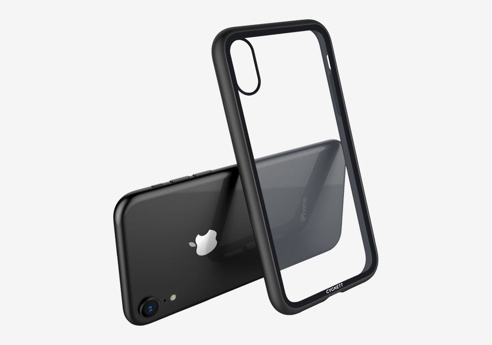 Cygnett Ozone Tempered Glass Case Black for iPhone XR