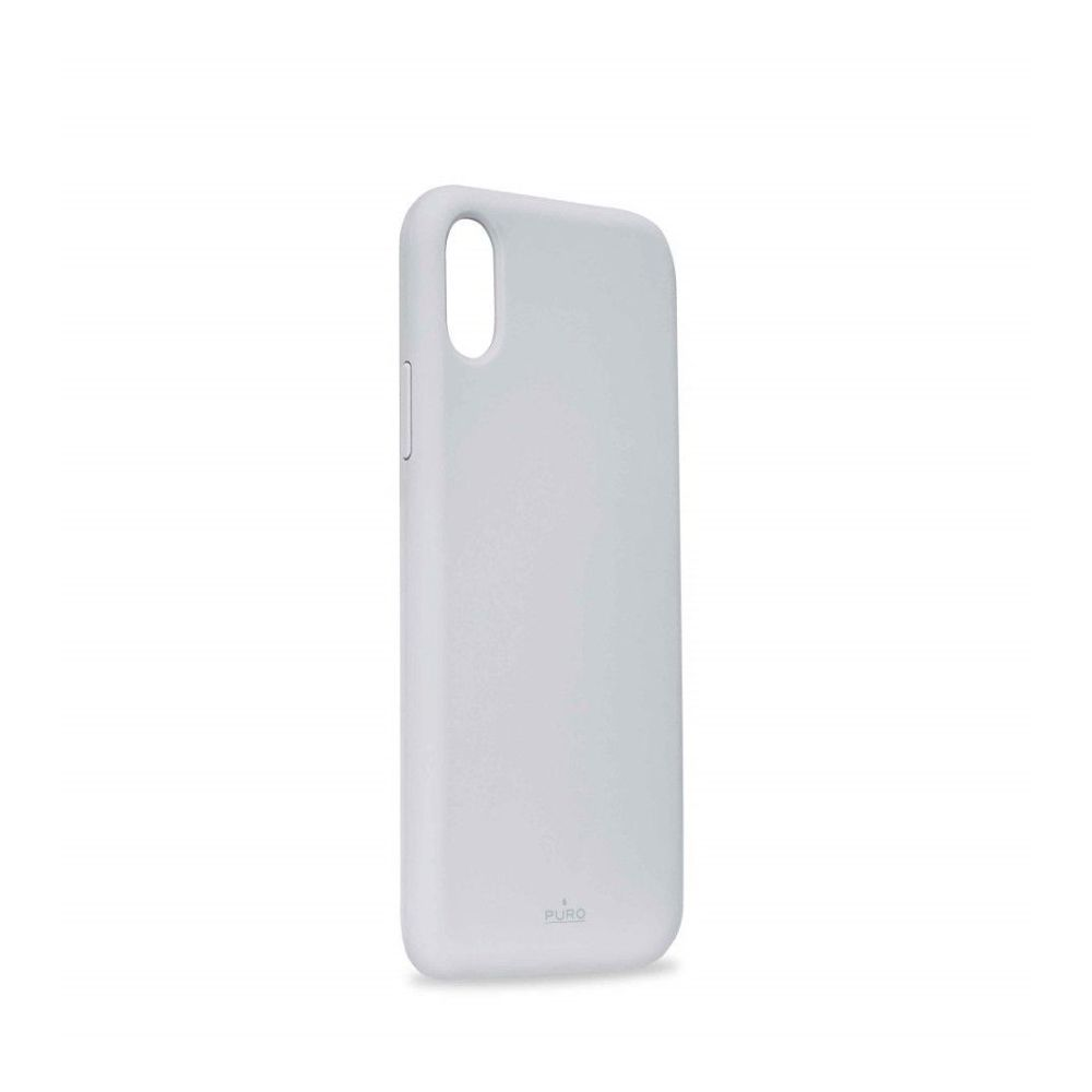 Puro Icon Silicon Case Light Blue with Microfiber for iPhone XR