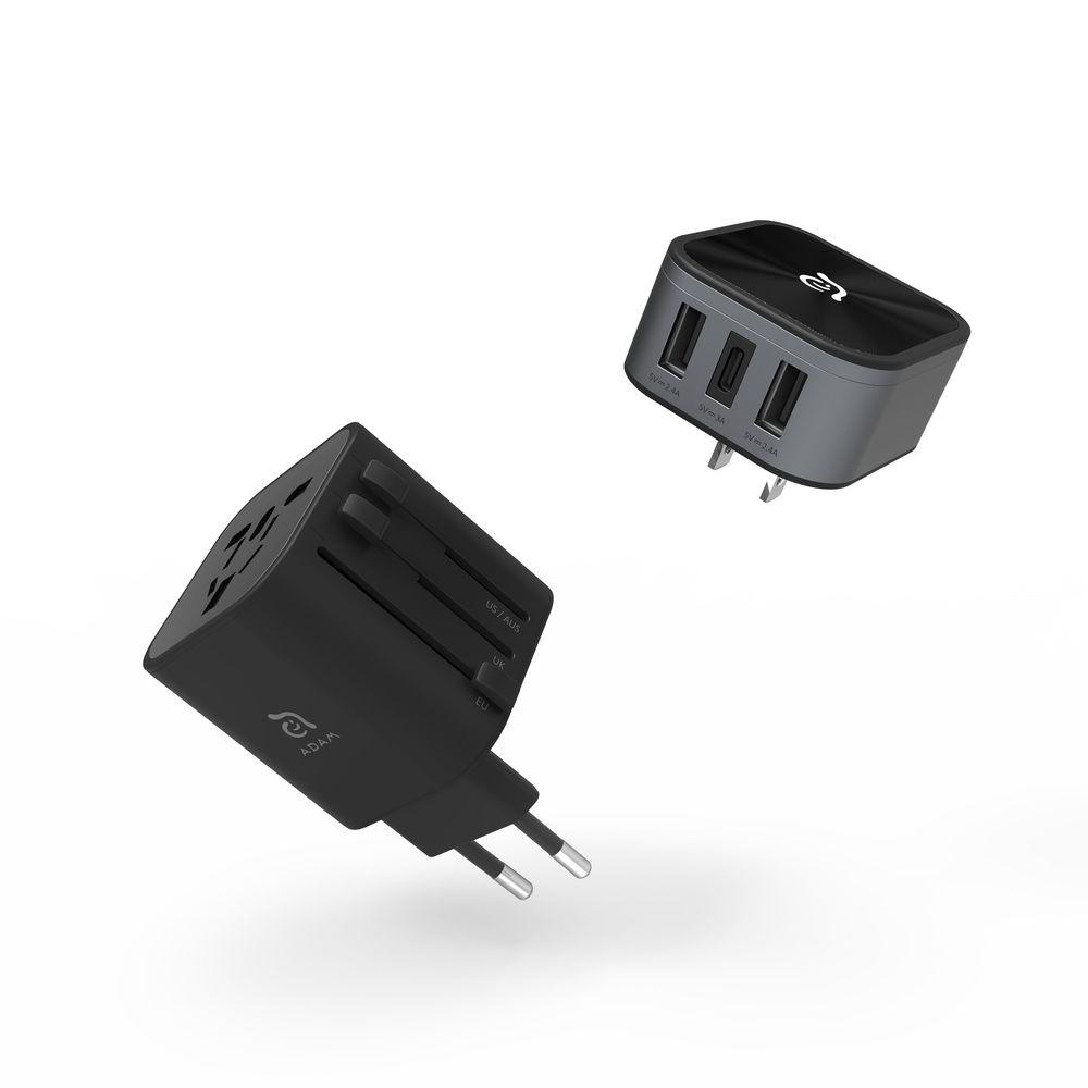 Adam Elements Omnia T3 Black Travel Adapter