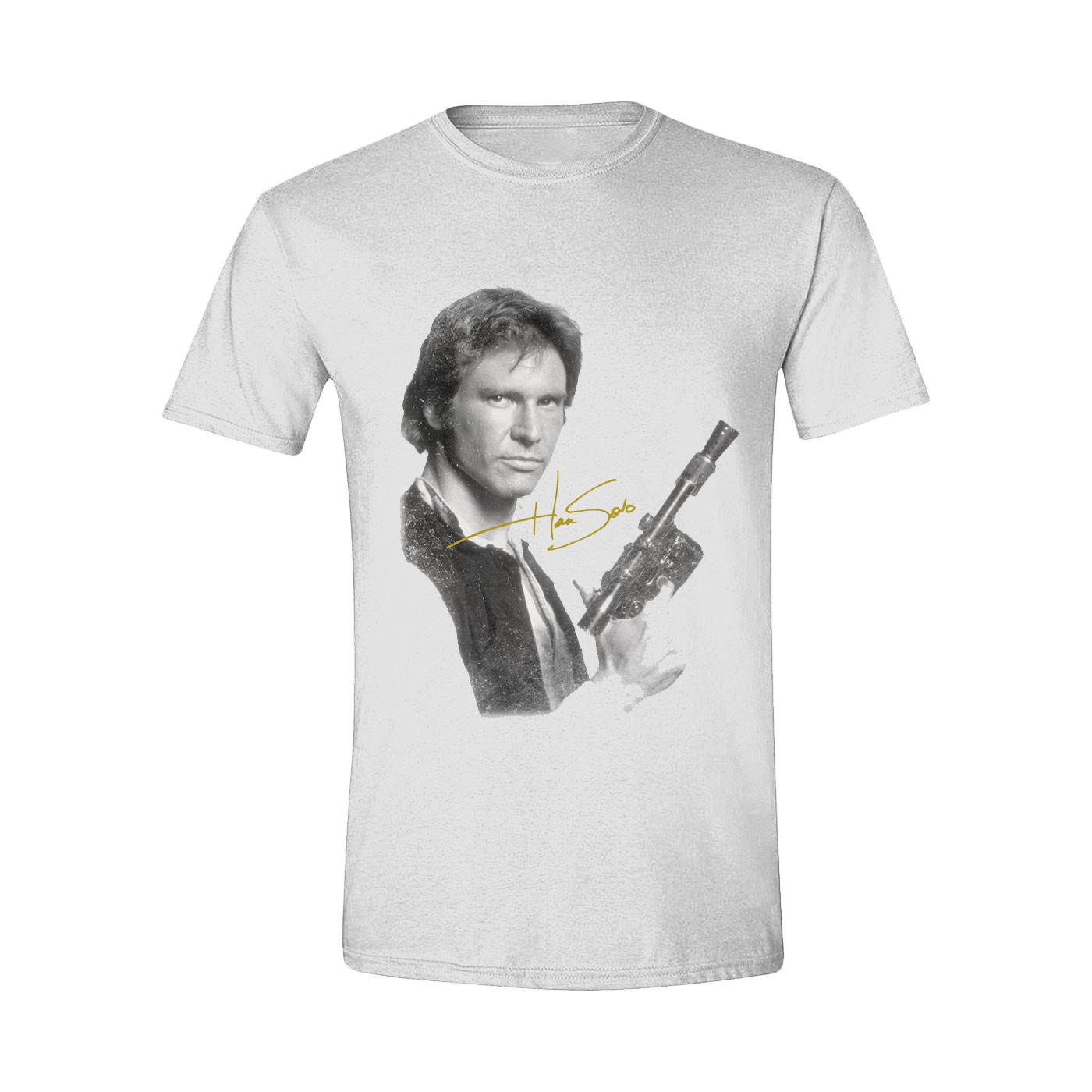 Time City Star Wars Han Solo Portrait White Men'S T-Shirt S