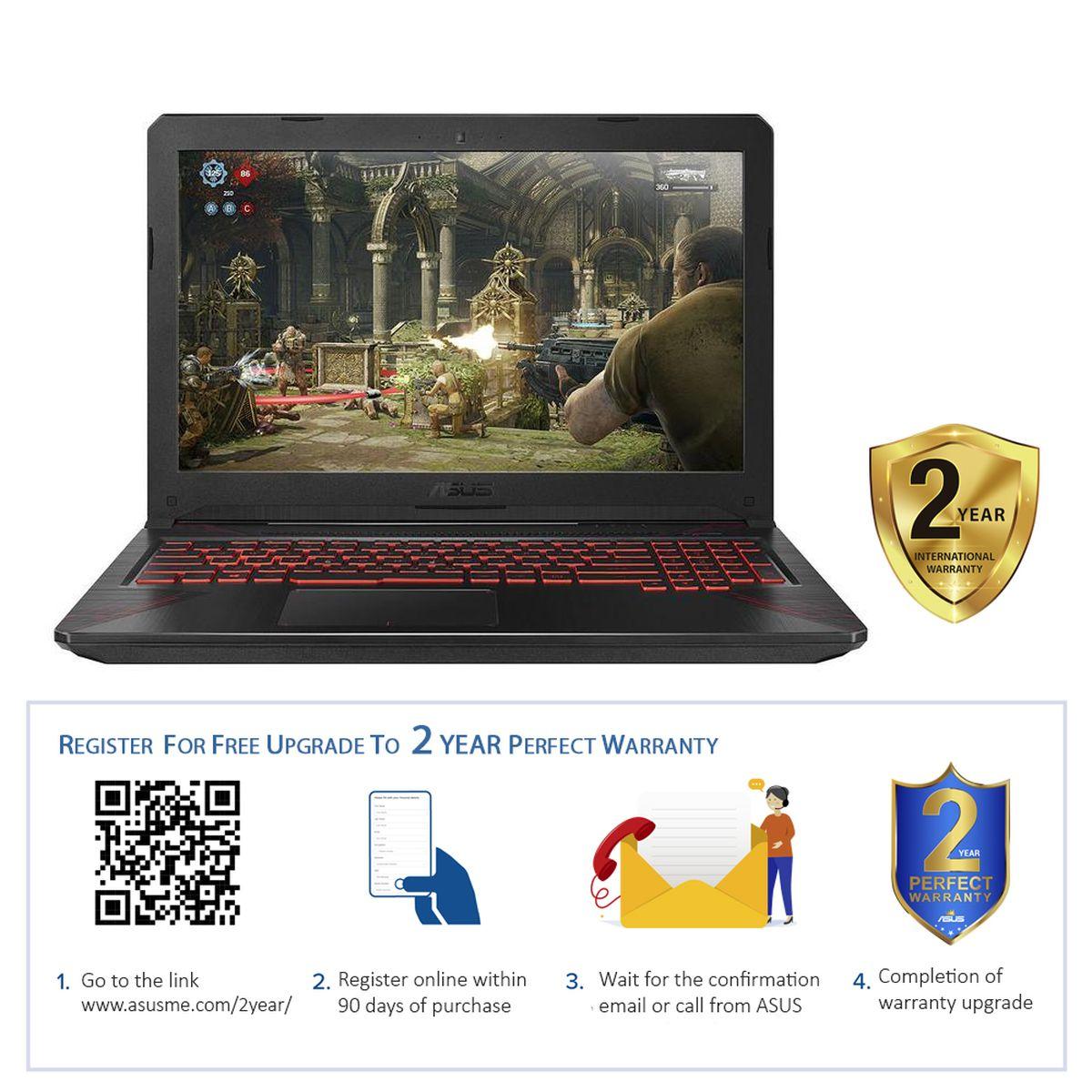 ASUS TUF FX504GM-EN006T 2.2GHz 8th gen Intel Core i7 i7-8750H 15.6 Inch Black Metal Notebook