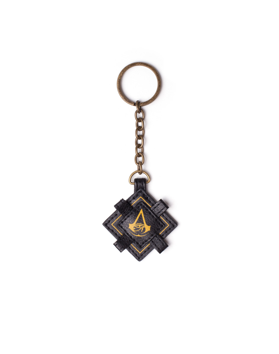 Difuzed Assassin's Creed Origins Faux Leather Black Keychain