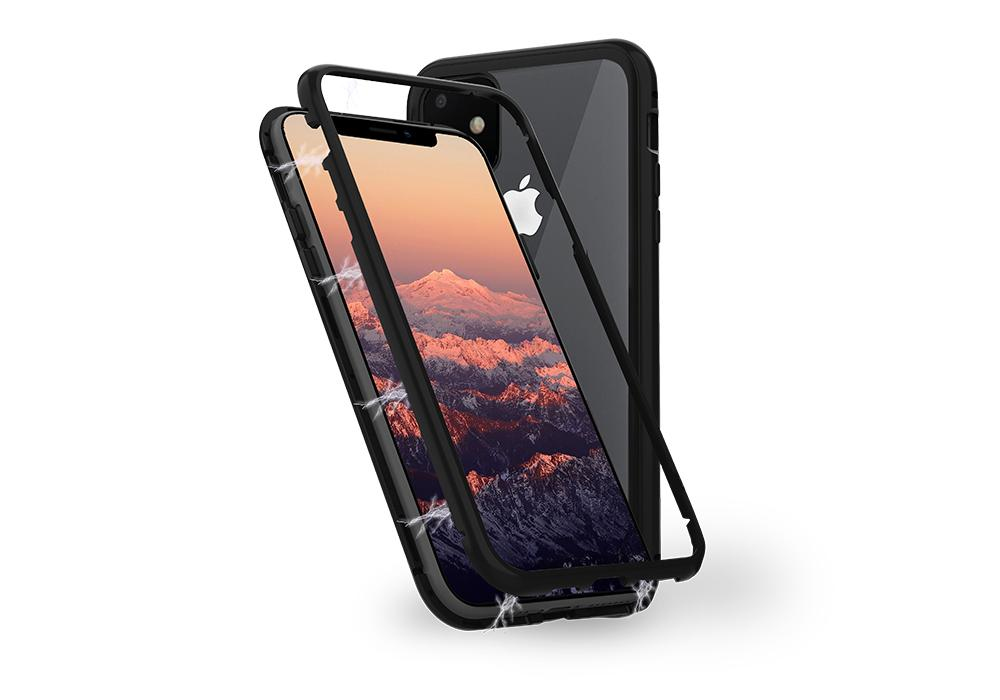 Cygnett Ozone Magnetic 9H Double Tempered Glass Case Black for iPhone 11