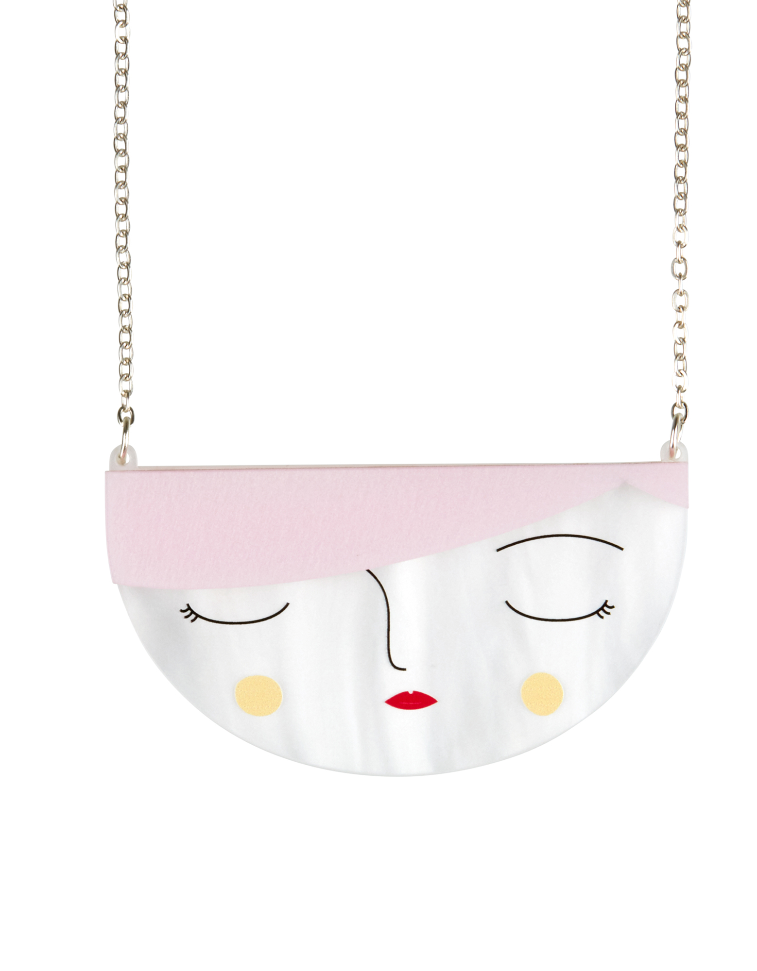 Little Moose Faces Small Face Necklace