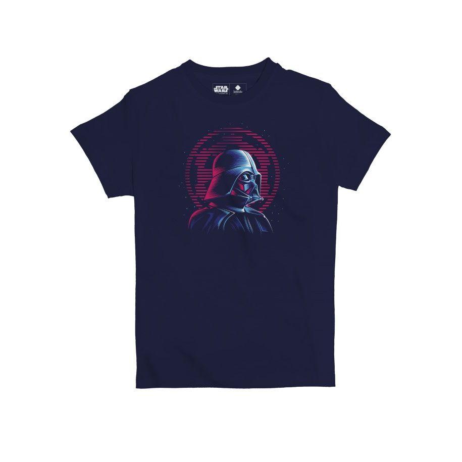 Star Wars Darth Vader Neon Kids' T-Shirt Navy Blue 10