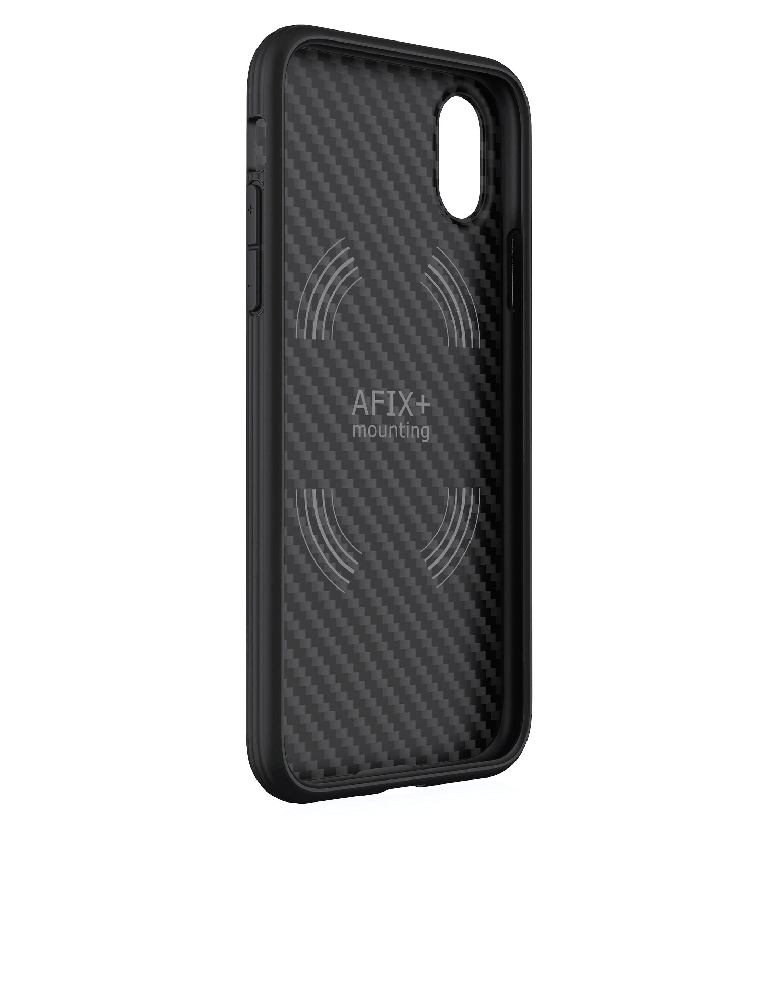 Evutec AER Karbon With Afix Case Black For iPhone X