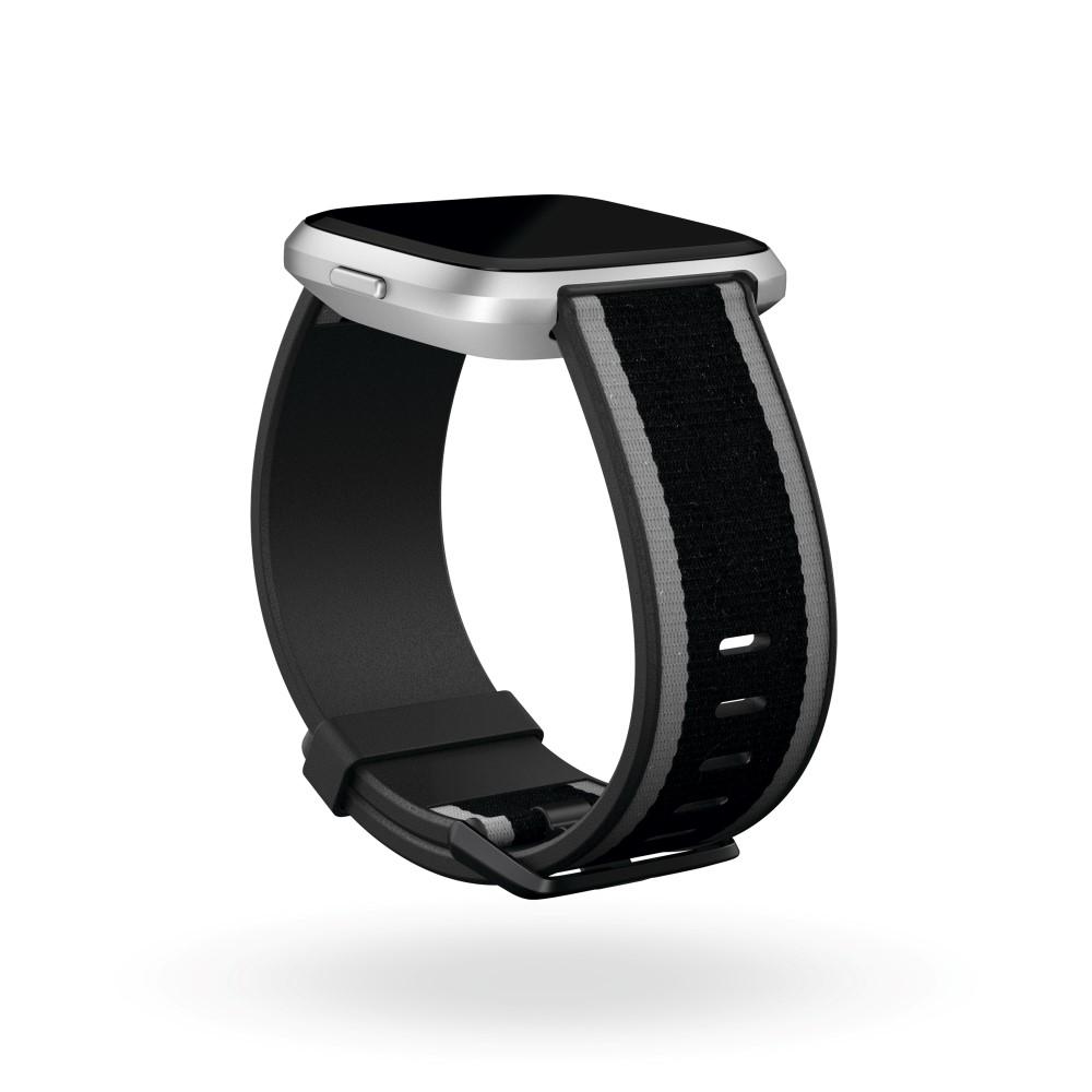 Fitbit Versa Woven Band Black/Grey Large