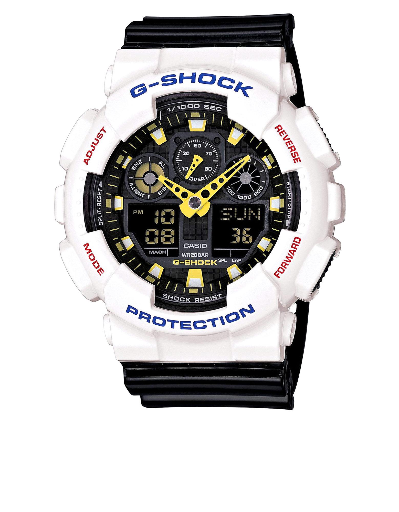 Casio GA-100CS G-Shock Analog-Digital Watch White