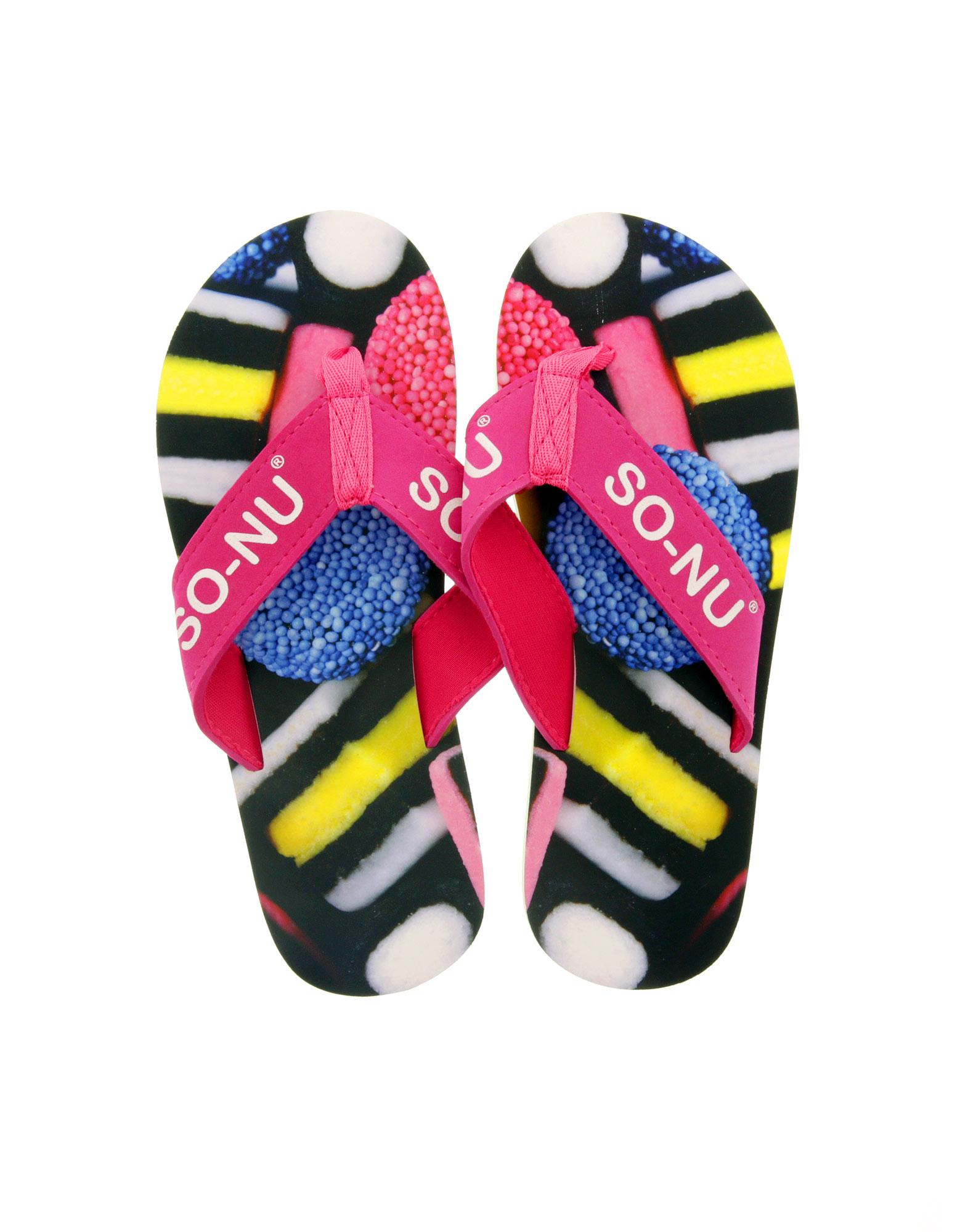 So Nu Licorice Women'S Flip Flops M