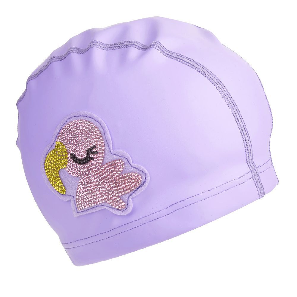 Bling2O Swimming Cap Purple Flamingo
