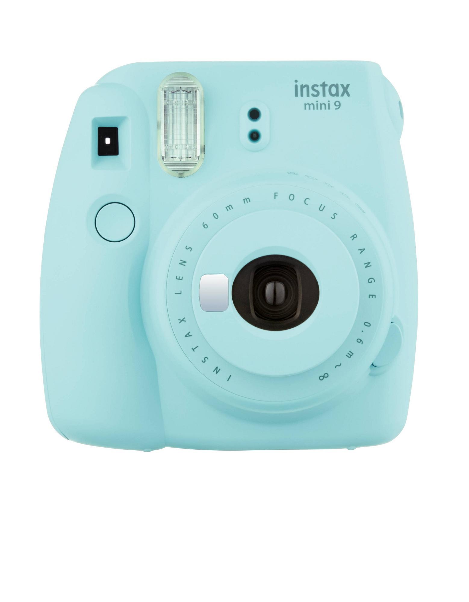 - Fujifilm Instax Camera Mini9 Ice Blue + Instax Mini Film Single Pack
