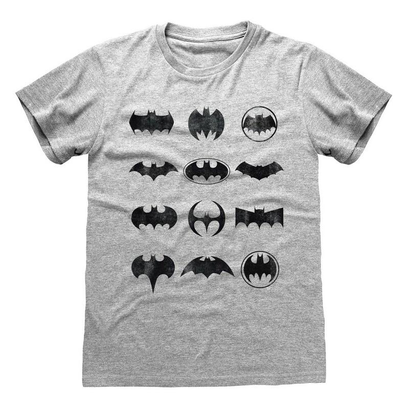 Heroes Inc Dc Batman Icons Unisex T-Shirt Heather Grey L