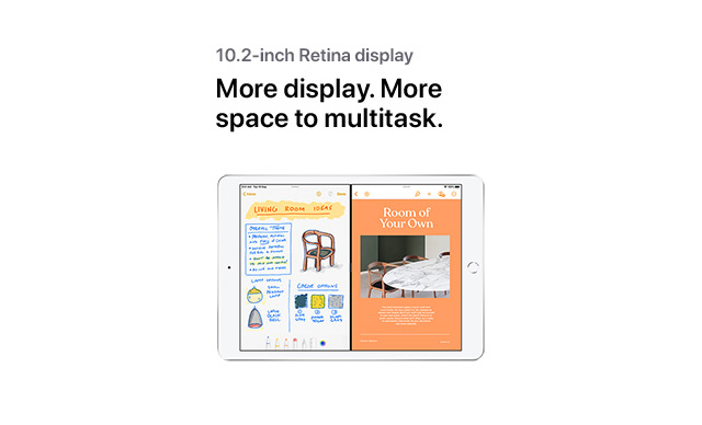 More display. More space to multitask.