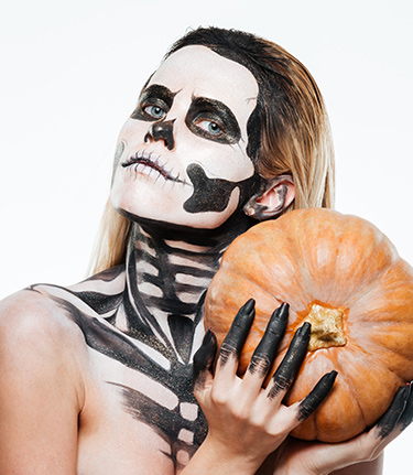 Last-minute Sugar Skull Make-up