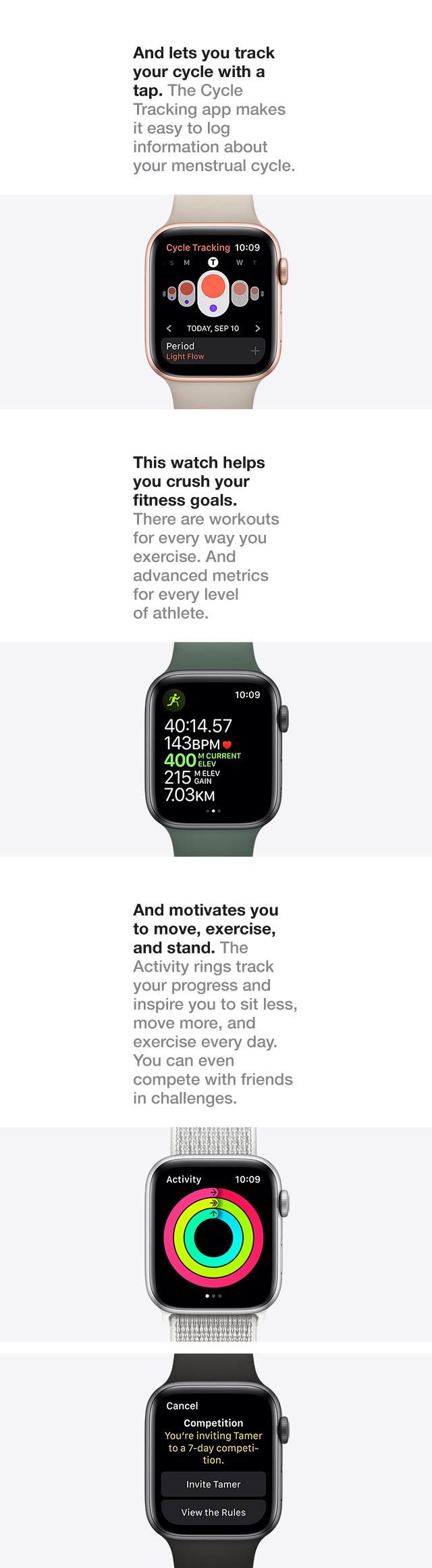 And lets you track your cycle with a tap.