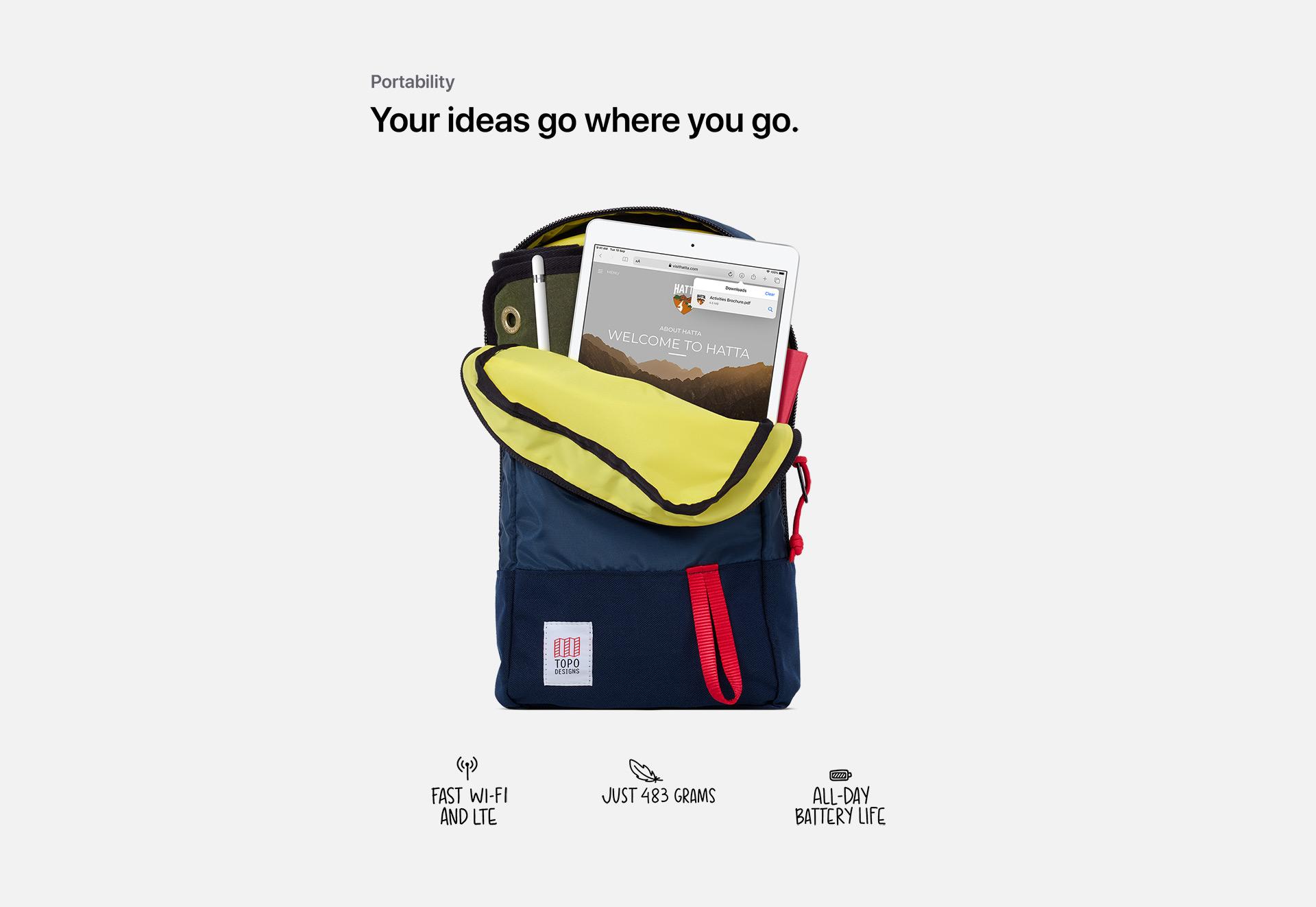 Your ideas go where you go.
