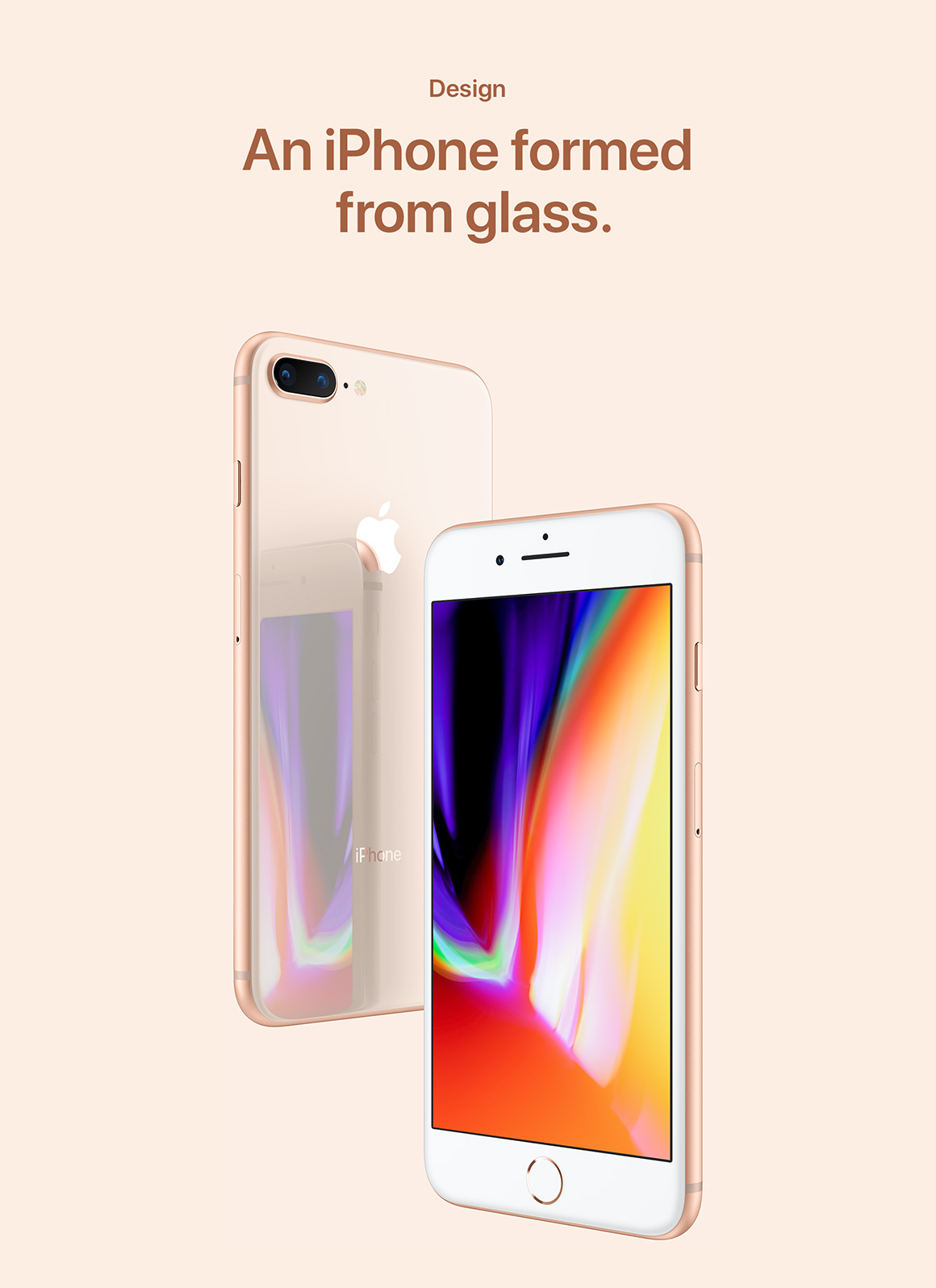 An iPhone made from glass
