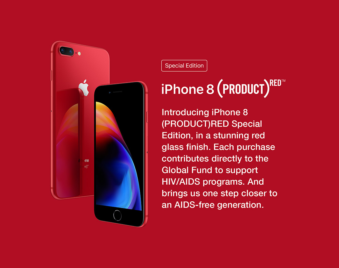 An iPhone Red