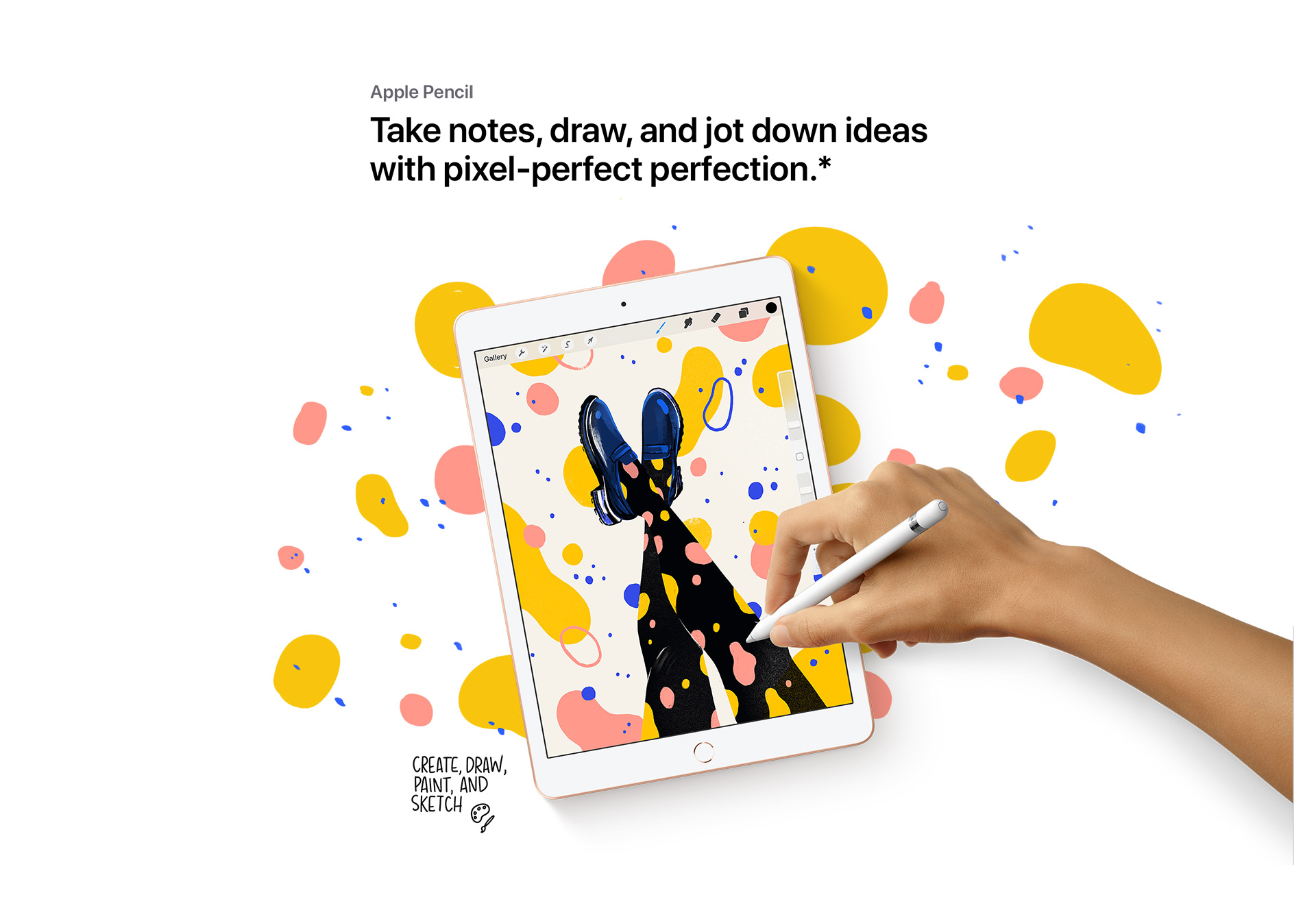 Take notes, draw, and jot down ideas with pixel-perfect perfection.*