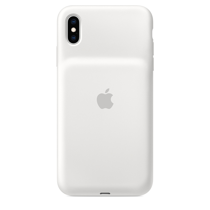buy popular fe6d9 15742 Apple Smart Battery Case White for iPhone XS Max