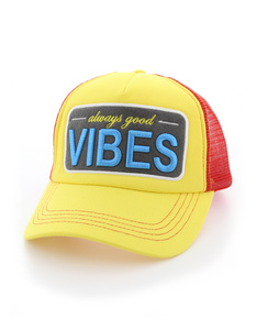 B180 Always Good Vibes Yellow/Red Unisex Adult Cap