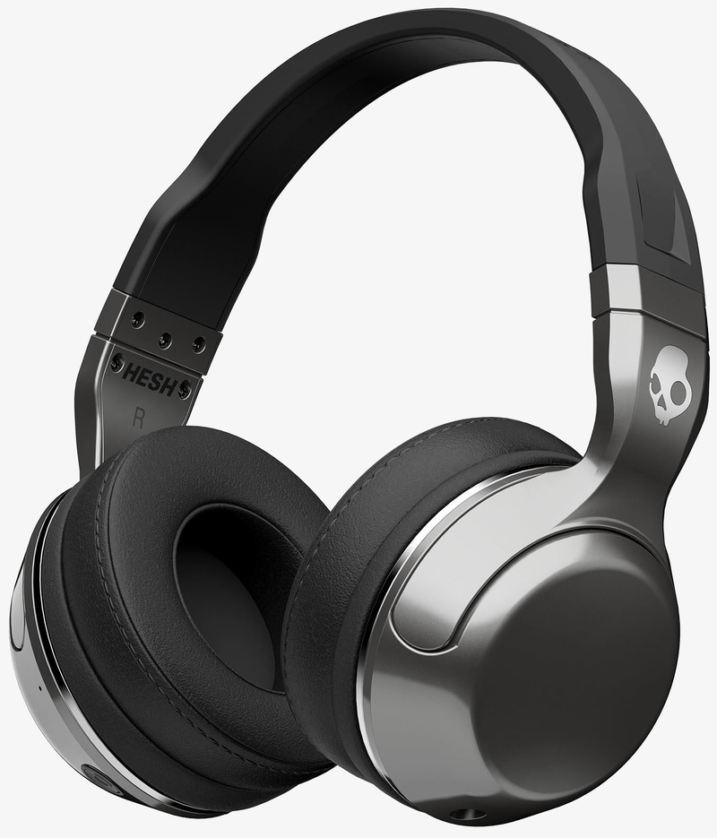 skullcandy hesh 2 0 bluetooth silver black chrome headphones on ear headphones headphones. Black Bedroom Furniture Sets. Home Design Ideas