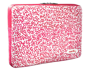 Case Scenario Keith Haring Canvas Sleeve W/Pattern Pink Mb Pro Retina 15