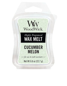 Woodwick Mini Wax Melt Cucumber Melon White Small Candle
