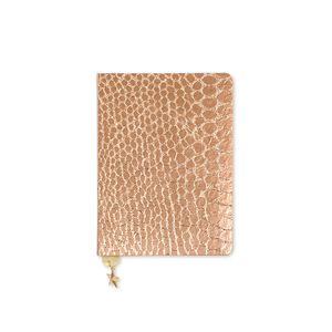 Go Stationery Croc Rose Copper All That Glitter A6 Notebook