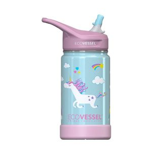 EcoVessel Frost Triple Insulated Kids Water Bottle Unicorn 350 ml