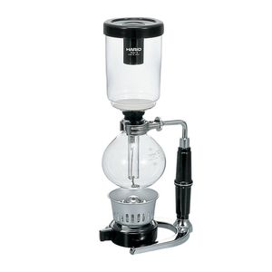Hario Technica Siphon Coffee Maker 3 Cups Black & Clear