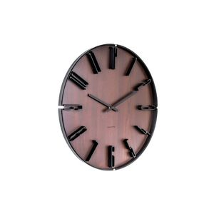 Karlsson Wall Clock Sentient Dark Wood
