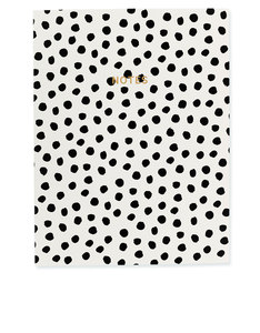 Go Stationery Monochrome Painterly Dot Wire O Notebook