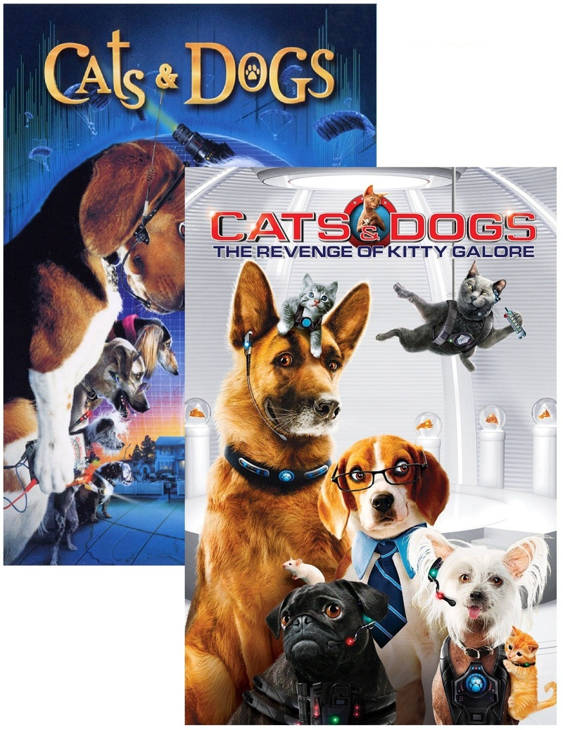 Cats \u0026 Dogs + Cats \u0026 Dogs 2 The Revenge of Kitty Galore [2 Disc Set]