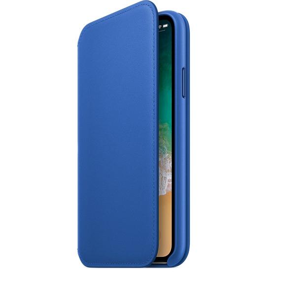 quality design e148f 88326 Apple Leather Folio Electric Blue For iPhone X