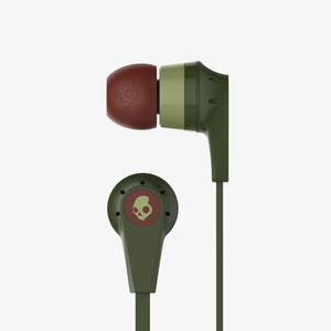 Skull Candy Inkd 2.0 Olive/Burgundy/Sage Earphones with Mic